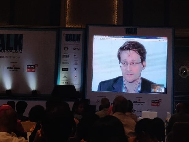 There is something seriously wrong with Aadhar: Edward Snowden at Talk Journalism